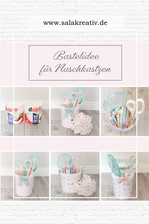 Backtoschool - von alte Schokoverpackung zum DIY-Stiftehalter