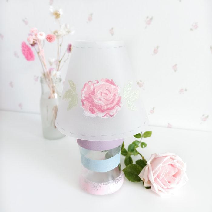DIY Lampe mit Rose